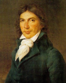 Camille Desmoulins, journalist fond of artfully placed semicolons and giving impassioned speeches on cafe tables.