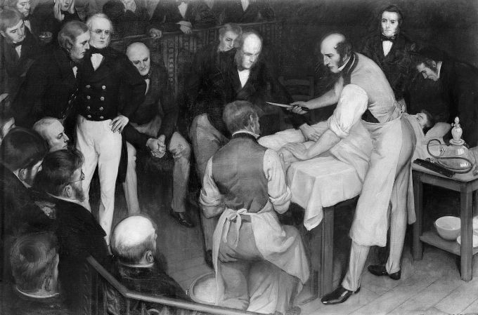 Robert Liston Operating. Ernest Board, 1912.