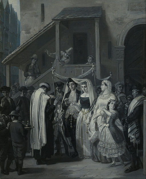 moritz_daniel_oppenheim_-_the_wedding_die_trauung_-_google_art_project