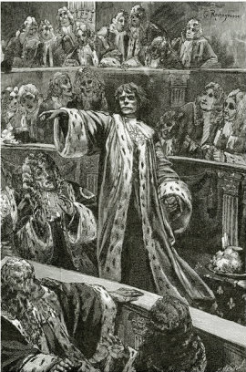 gwynplaine-at-the-chamber-of-lords-illustration-from-l-homme-qui-rit-19th-century