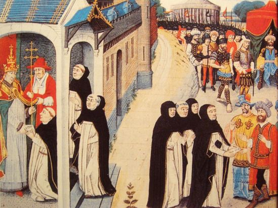 Ascelin of Lombary Delivers a Letter from Pope Innocent IV to Baiju the Mongol General