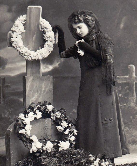 19th century mourner